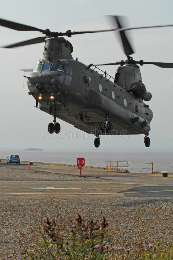 Chinook Helicopter Dock Landing Royalty Free Stock Photography