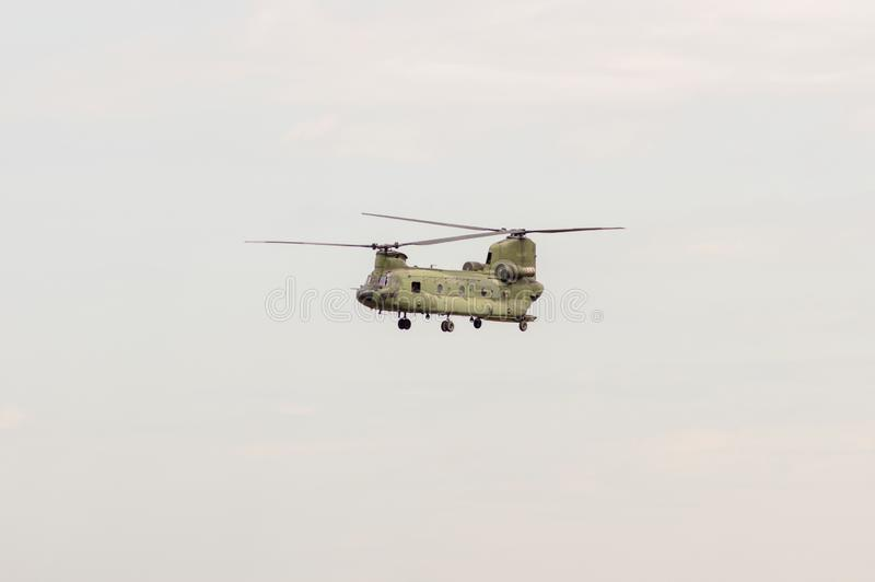 Chinook helikopter przy airshow obraz stock