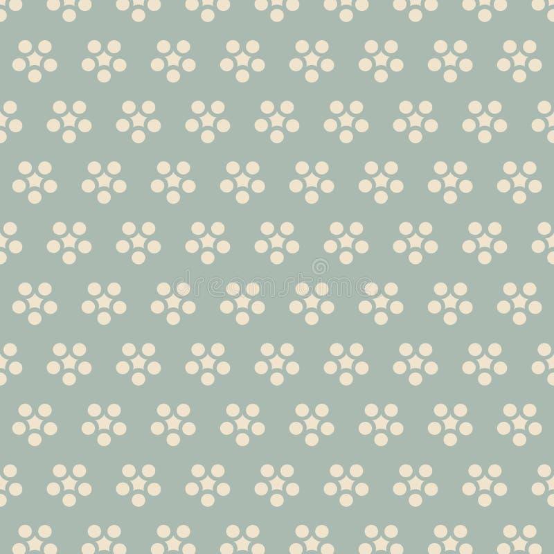 Chintz redondo japonês retro da flor do fundo sem emenda antigo ilustração royalty free