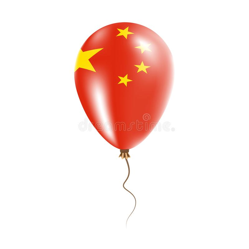 Chiny balon z flaga royalty ilustracja
