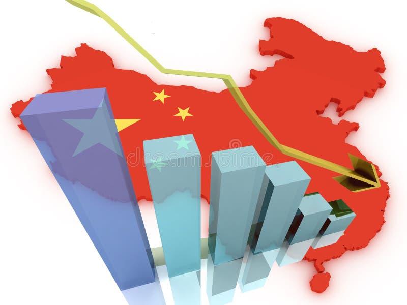 Chiny 3d mapy rynki papierów wartościowych zestrzelają fotografia royalty free