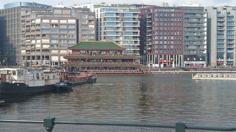 Chiny dom i jezioro zdjęcie royalty free