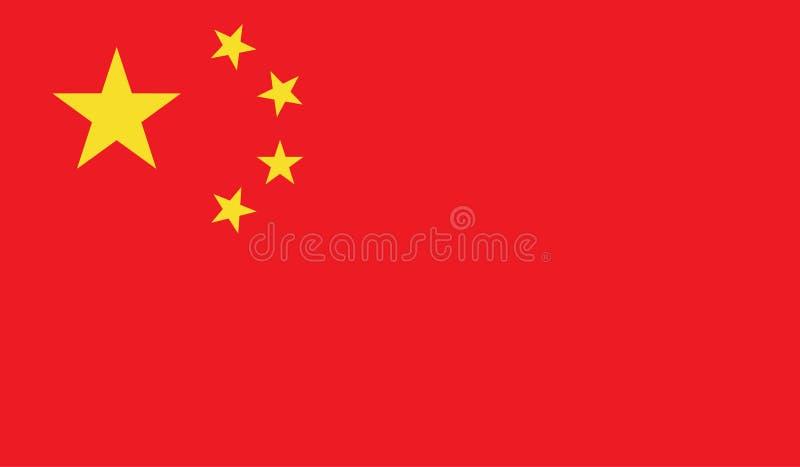 Chiny flaga wizerunek ilustracji