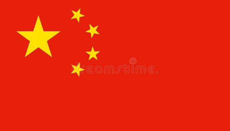 Chiny flagi ikona w mieszkanie stylu Obywatel szyldowa wektorowa ilustracja Spo?ecze?stwo biznesowy poj?cie royalty ilustracja