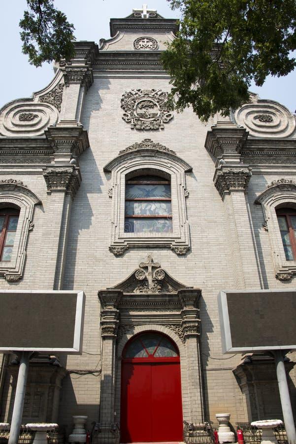 Chiny i Azja, południowy Pekin kościół katolicki, obraz royalty free