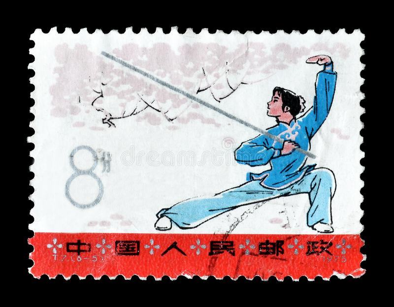 Chiny na znaczkach pocztowych fotografia stock