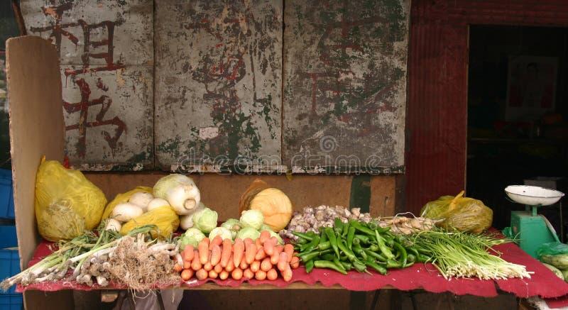 chiny sklepu warzywa Lanzhou obraz stock