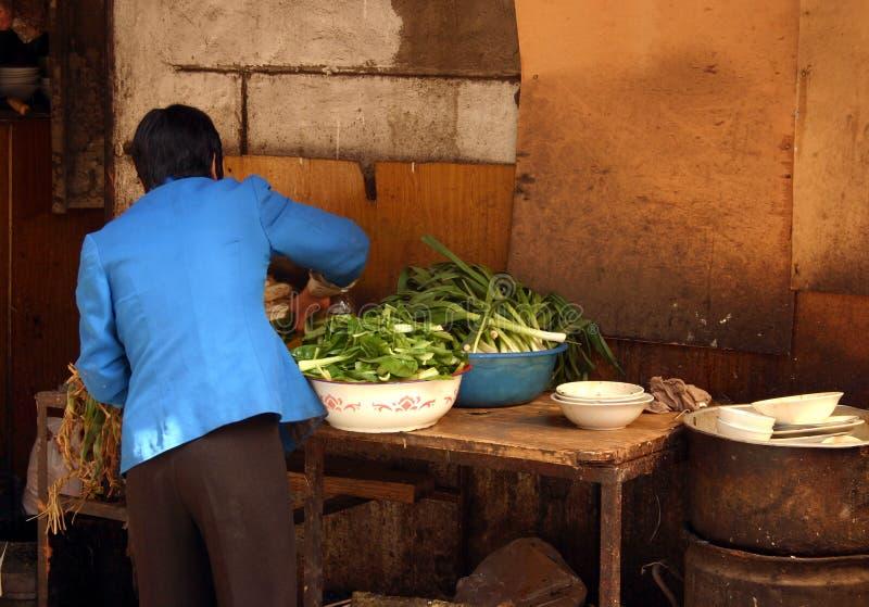 chiny sklepu warzywa Lanzhou fotografia stock