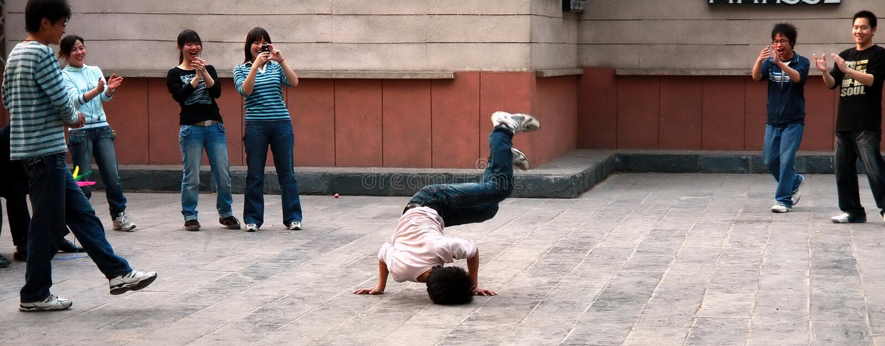 chiny taniec ulicy obraz royalty free