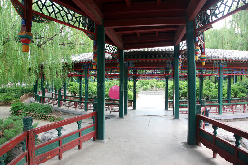 Chiny Tradycyjna Architektura Obrazy Stock