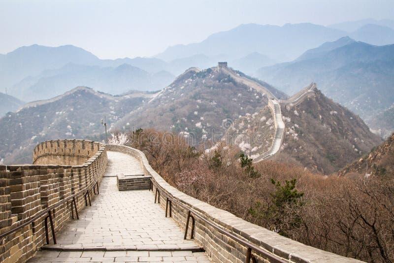 Chiny, wielki mur Chiny obrazy royalty free