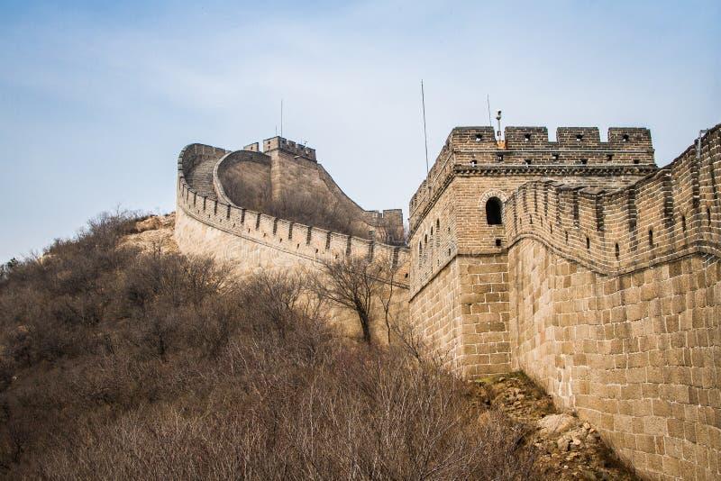 Chiny, wielki mur Chiny obrazy stock