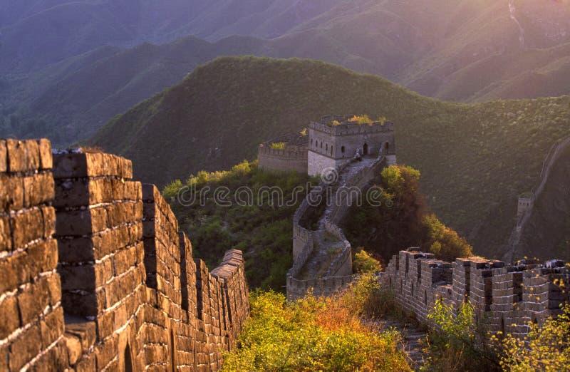 chiny wielki mur. obrazy royalty free