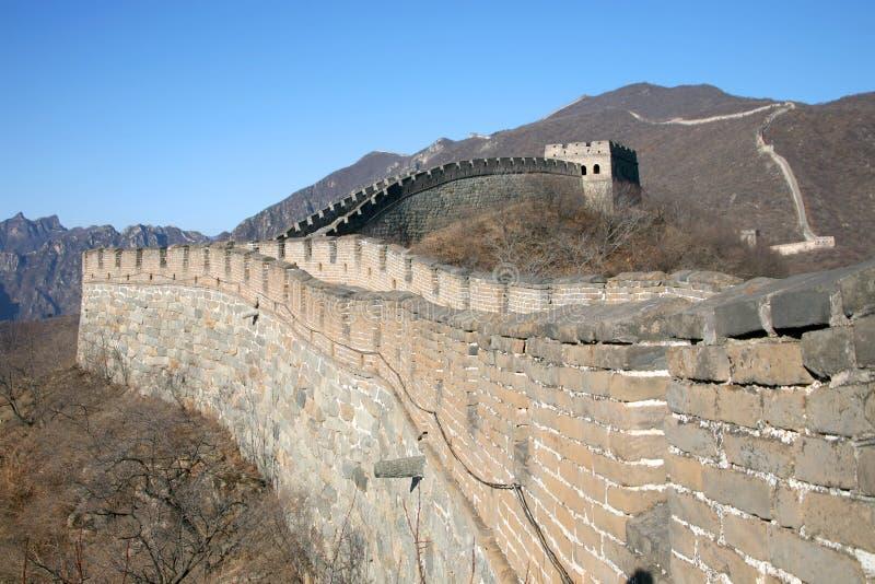 chiny wielki mur. obrazy stock