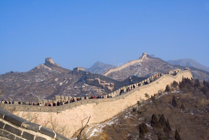 chiny wielki mur zimy. obrazy royalty free