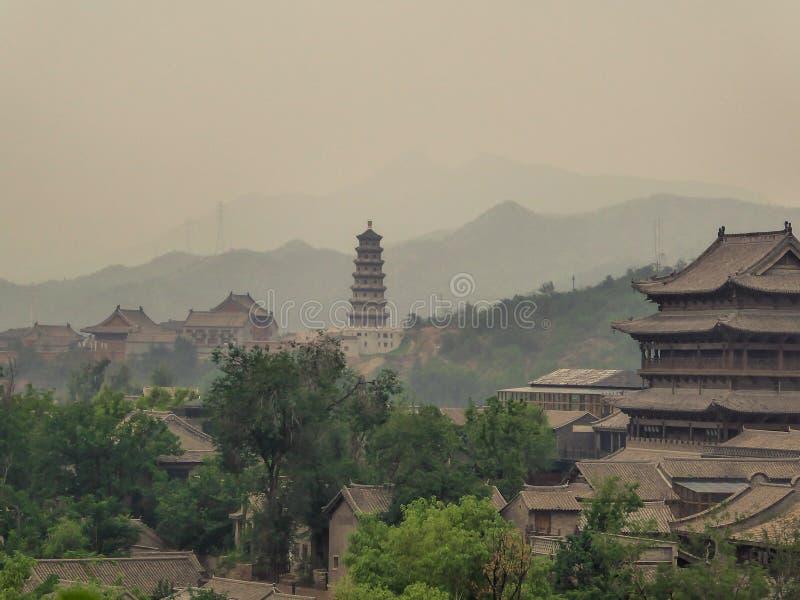 Chiny - zanieczyszczenie w powietrzu zdjęcie stock