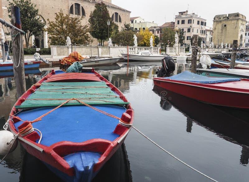 Chioggia, dichtbij Venetië stock afbeelding