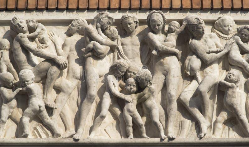 Chioggia, Italië Bijzonder van portaal royalty-vrije stock afbeelding