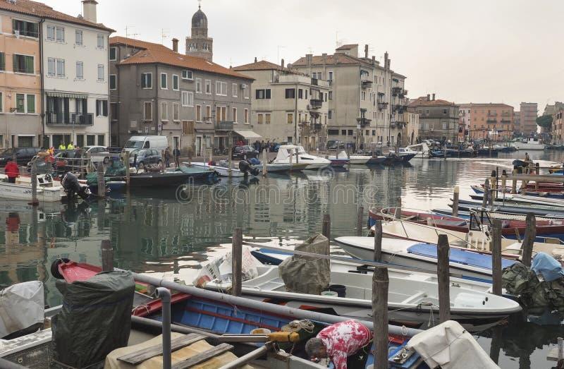 Chioggia nära Venedig arkivfoton