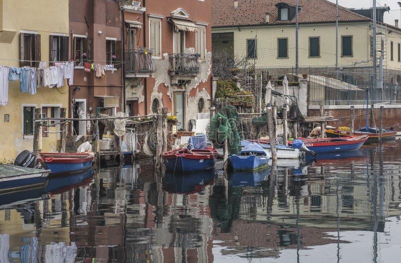 Chioggia nära Venedig royaltyfri foto