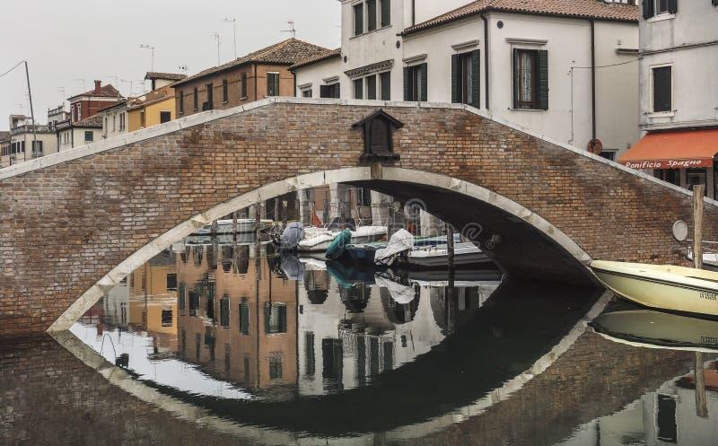 Chioggia nära Venedig arkivbilder