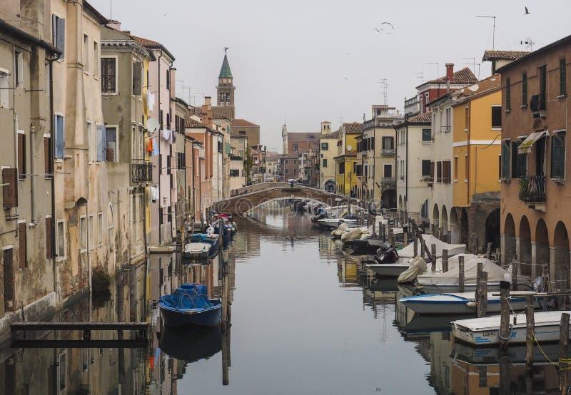 Chioggia nära Venedig royaltyfria bilder