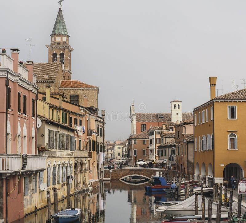 Chioggia nära Venedig royaltyfria foton