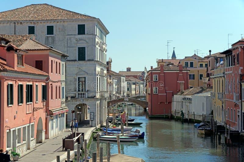 Chioggia Wenecja Włochy mały raj zdjęcie royalty free