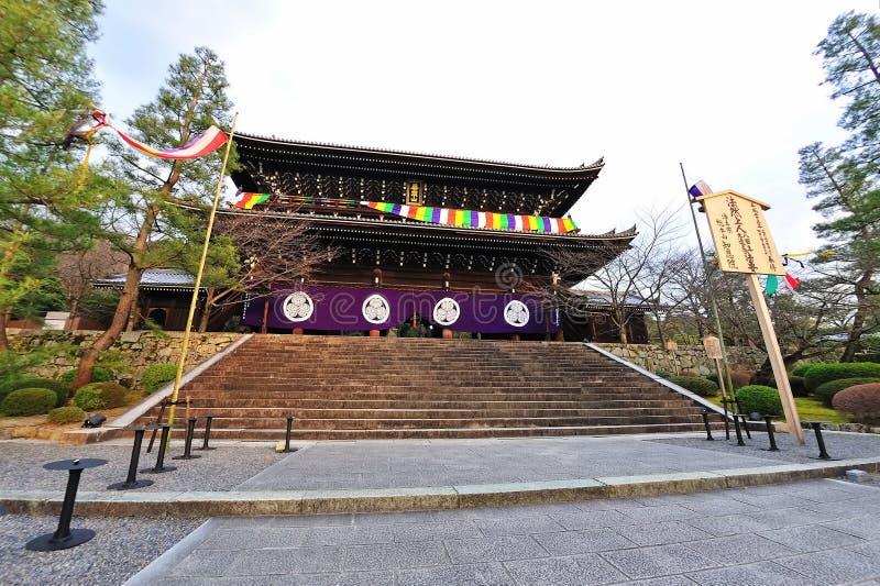 Chion-in tempel in Japan royalty-vrije stock fotografie