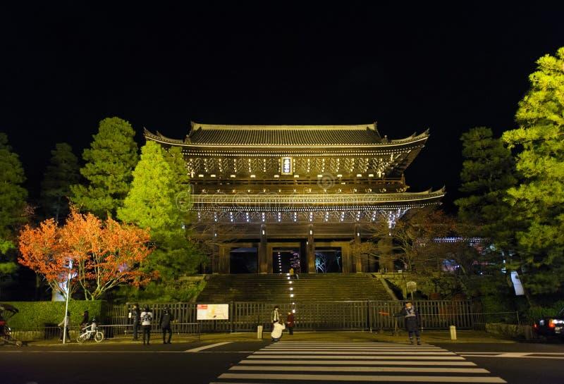 Chion-in Tempel in Kyoto stock afbeeldingen