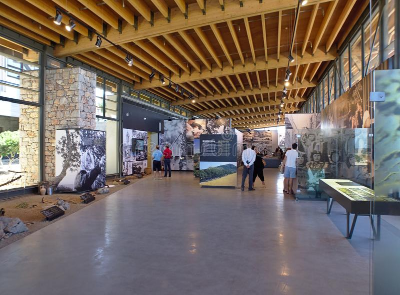 Chios mastic museum interior. Chios island, Greece - August 07 2019: Chios mastic museum interior, beautiful, modern, natural, summer, architecture, environment royalty free stock image