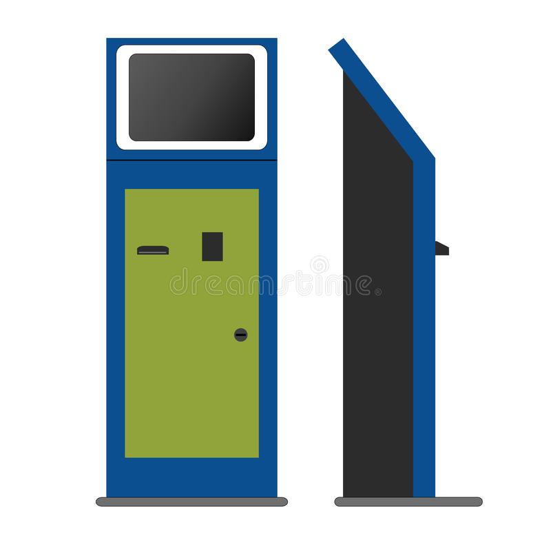 Chiosco di informazioni, terminale di pagamento, supporto illustrazione di stock