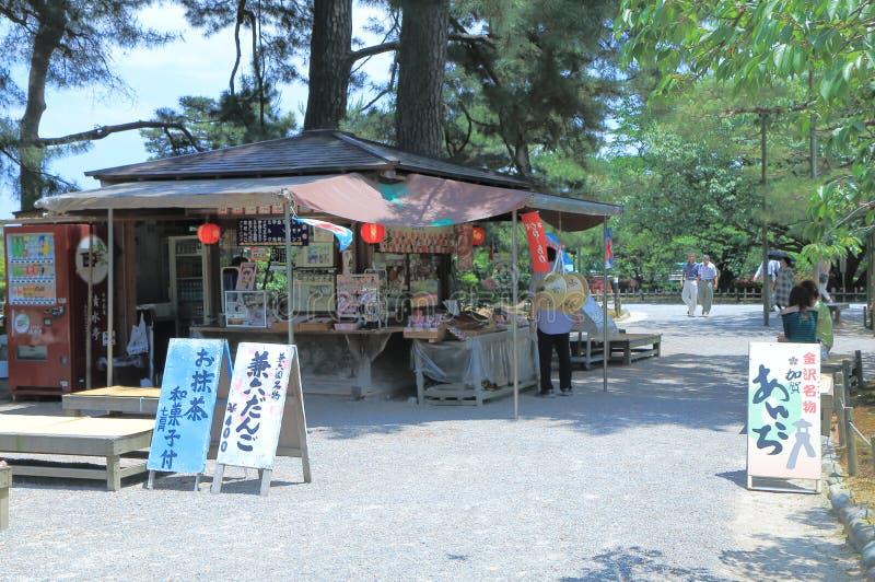 Chiosco nel giardino Kanazawa Giappone di Kenrokuen immagine stock