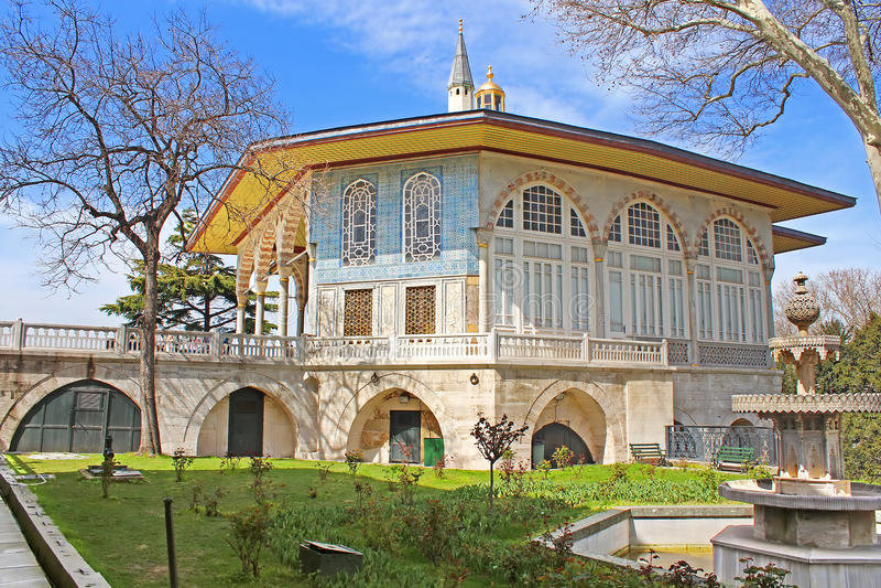 Chiosco situato nel palazzo di Topkapi, Costantinopoli, Turchia di Bagdad fotografia stock