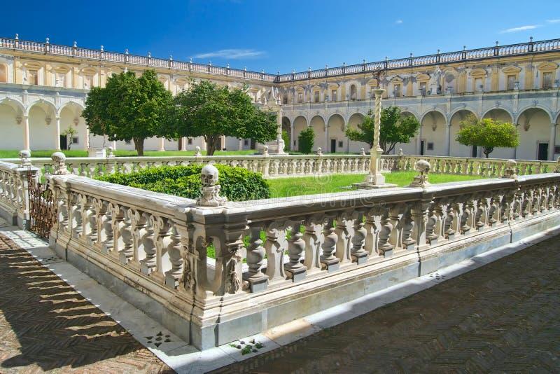 Renaissance convent garden stock images