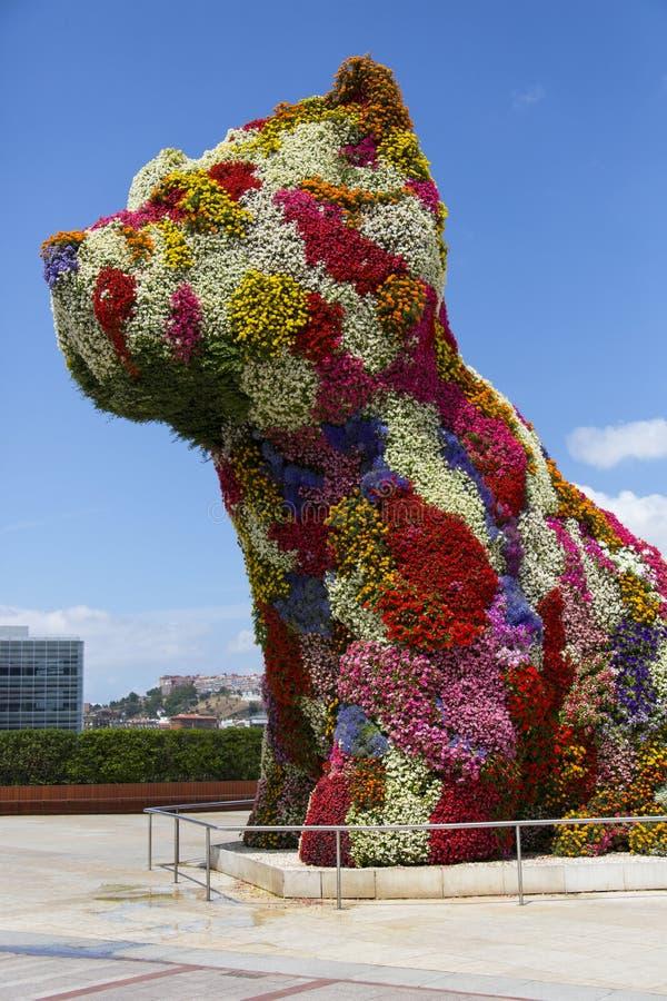 Chiot de Guggenheim - Bilbao - Espagne photo libre de droits