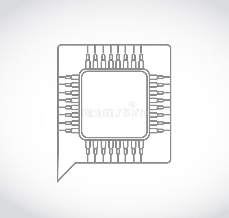 Chip Blasenchat speakbox Illustration vektor abbildung