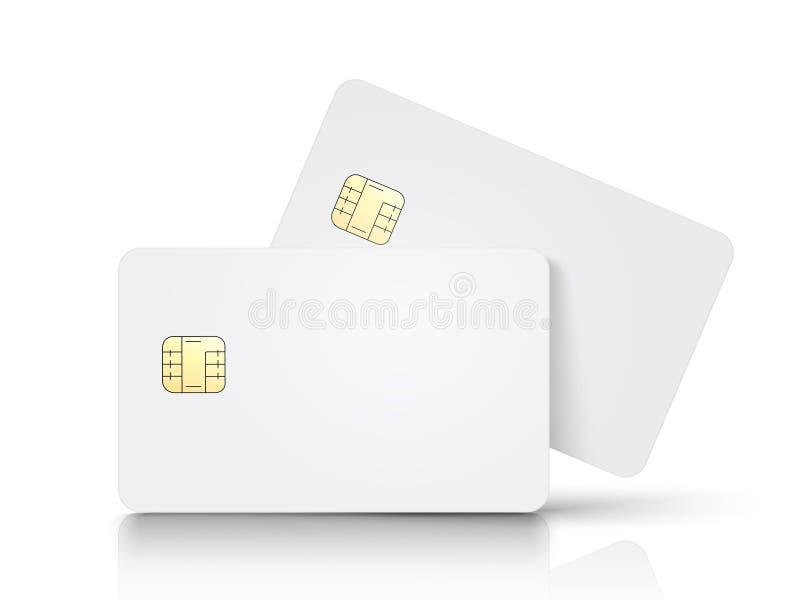 Chip card in bianco illustrazione di stock