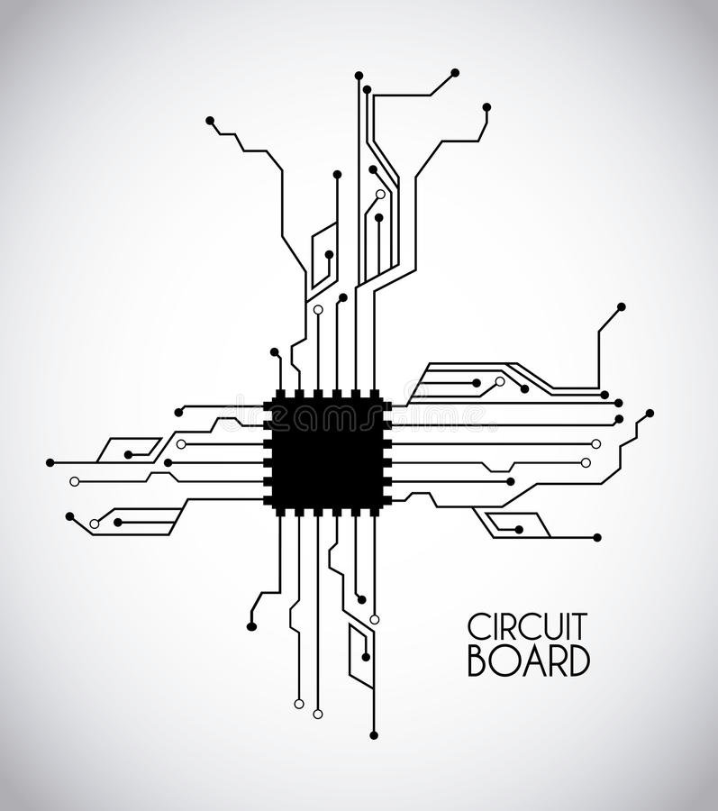 Chip and circuit royalty free illustration