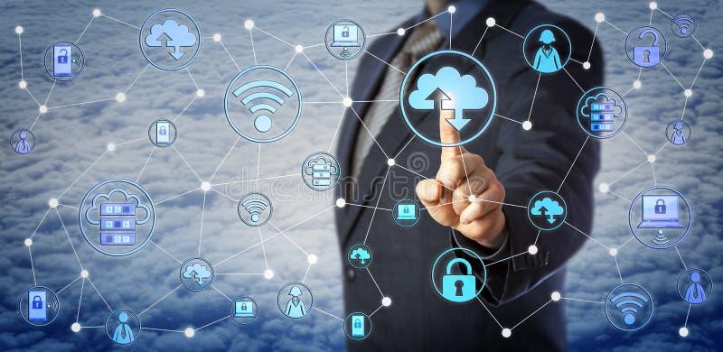 Chip Client Testing Enterprise Mobility blu immagini stock libere da diritti