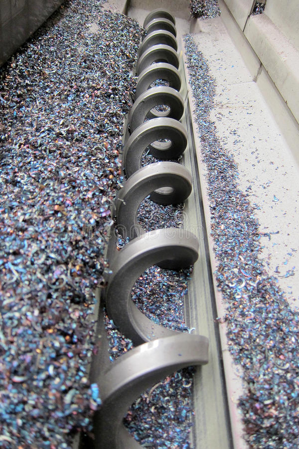 Download Chip conveyor stock photo. Image of milling, grind, grinding - 61913078