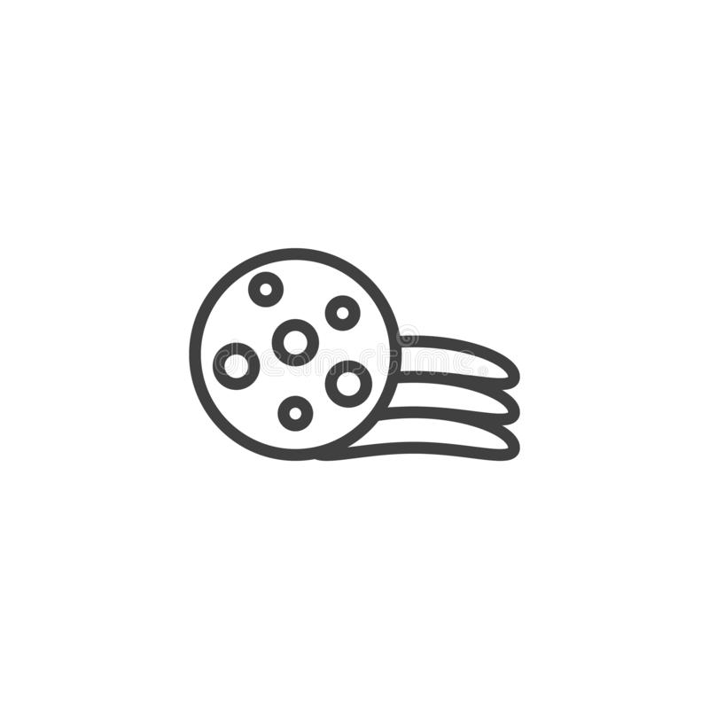 Chip cookies line icon vector illustration