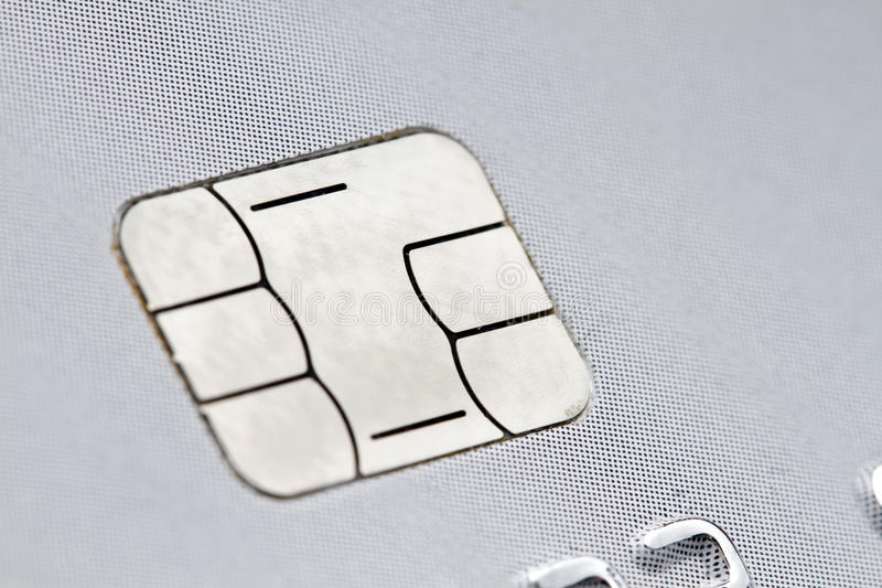Chip of a credit card stock photo