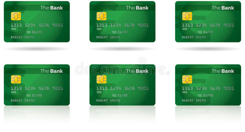 Chip Credit Card stock photography