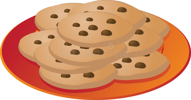 chip czekoladki ciasteczka ilustracja wektor