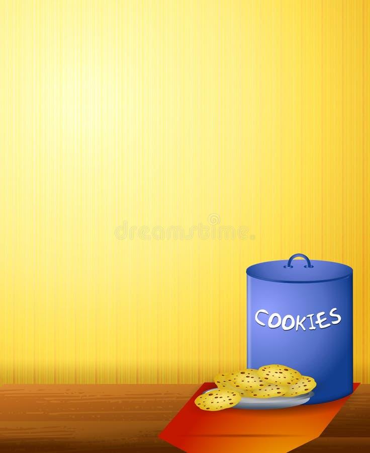 chip czekoladki ciasteczka ilustracji