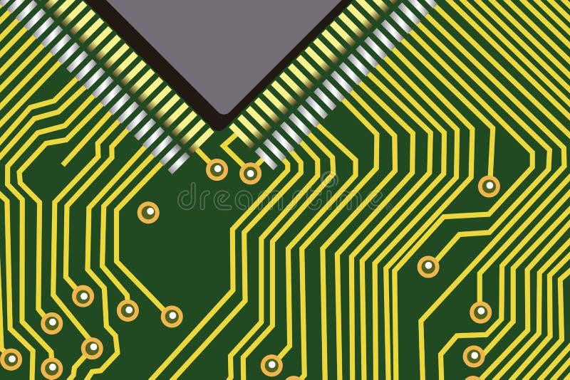 Chip de computador ilustração do vetor