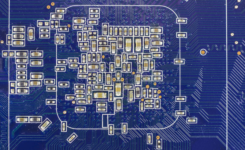 Chip de computador imagem de stock royalty free