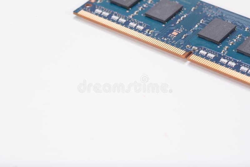 Chip de memória ou circuitboard do laptop imagem de stock