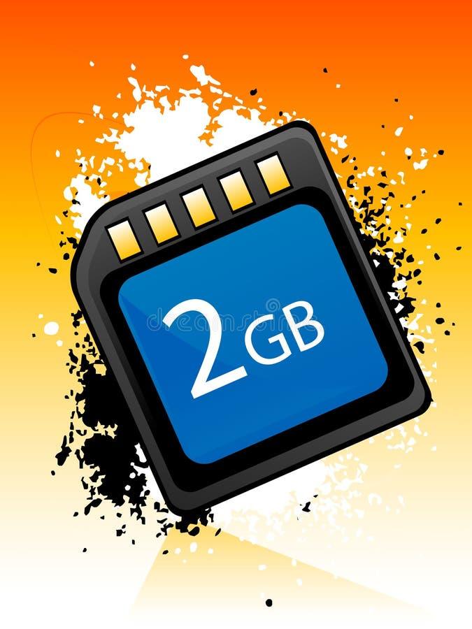Chip de memoria ilustración del vector